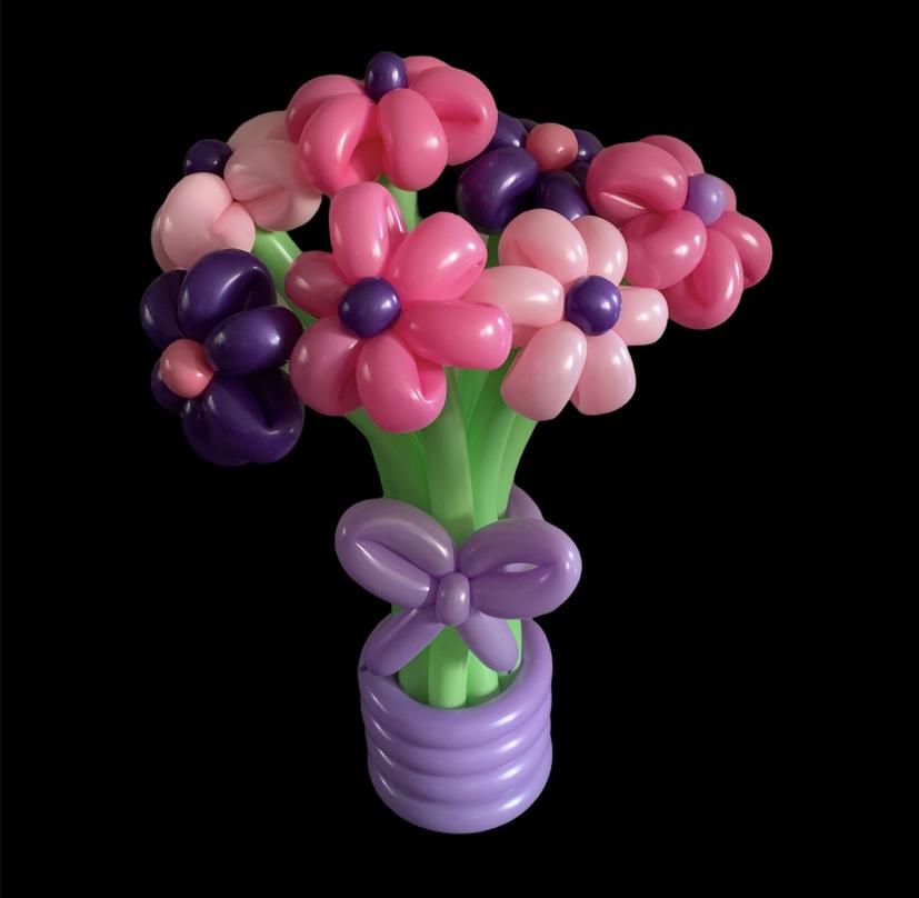 Bloemboeket roze-paars